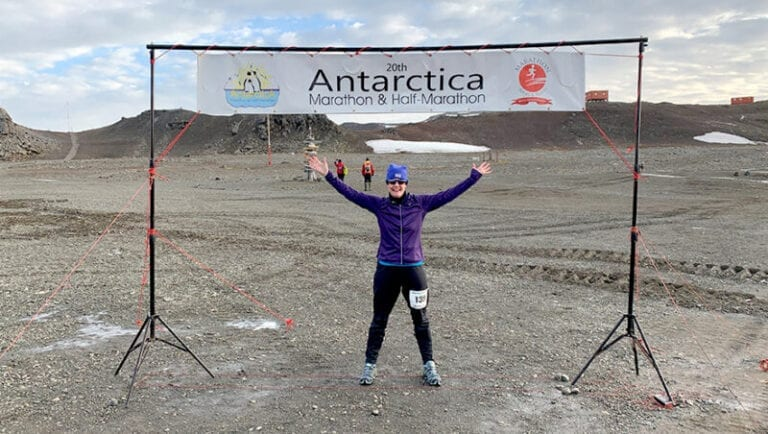 A Completed Marathon on Every Continent, She's Running for a Reason