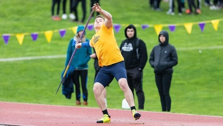 Best Buy employee hits the mark with javelin at college championships