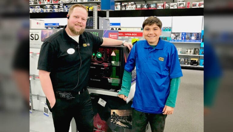 Boy's dream of wearing a blue shirt comes true at Omaha Best Buy