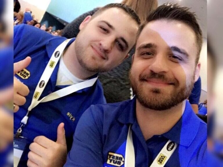 Brothers in Best Buy Blue