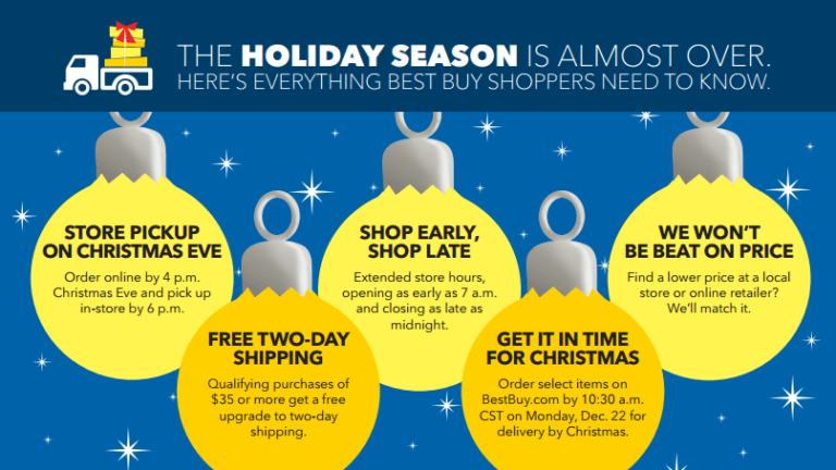 Best Buy Makes Last-Minute Holiday Shopping Easy and Convenient