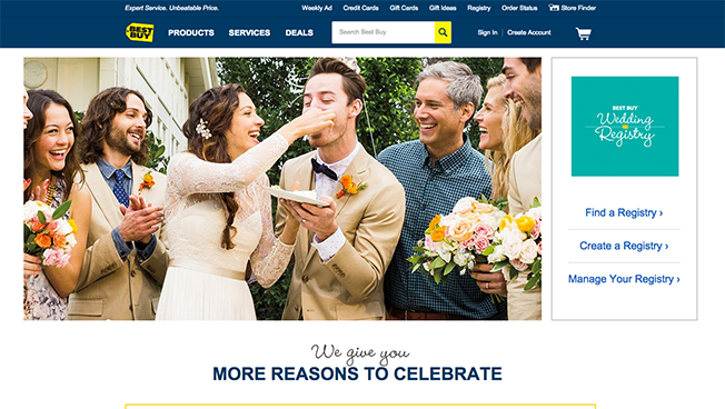 Say 'I Do' With Tech Products from the Best Buy Wedding Registry
