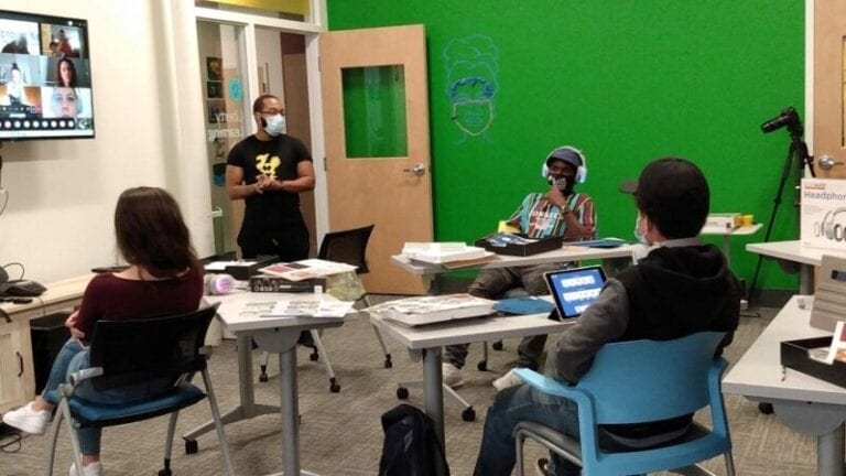 In pandemic, partners help get tech to teens