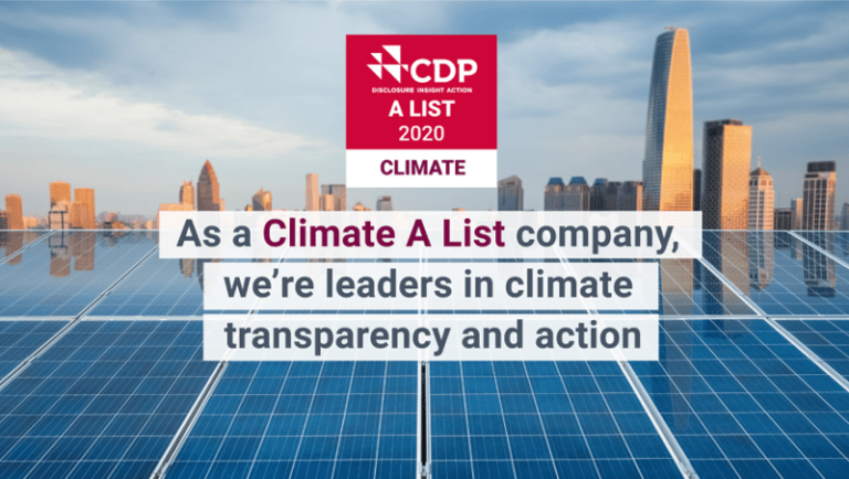 Best Buy Named to CDP's 2020 Climate A List