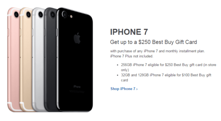Let the Gifting Begin: Buy an iPhone 7, Get up to a $250 Gift Card