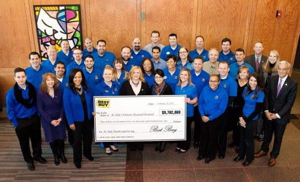 Best Buy Helps Donate $9.7M to St. Jude Children's Research Hospital®