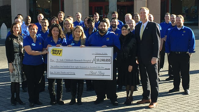 Best Buy Leaders Visit St. Jude Patients, Bring $10.2 Million in Customer Donations