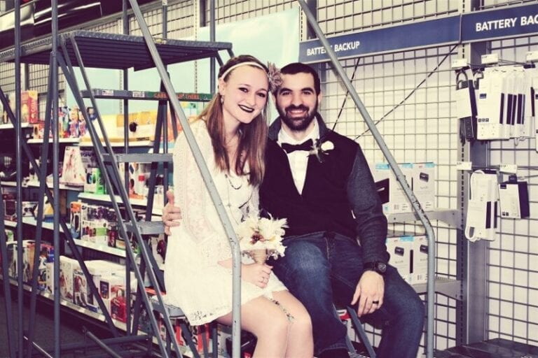 Employees Tie the Knot Inside Indiana Best Buy Store