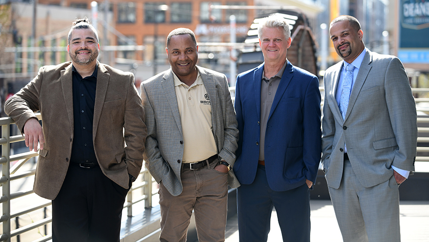 Brown Venture Group founders Dr. Chris Brooks, Jerome Hamilton, Chris Dykstra and Dr. Paul Campbell.